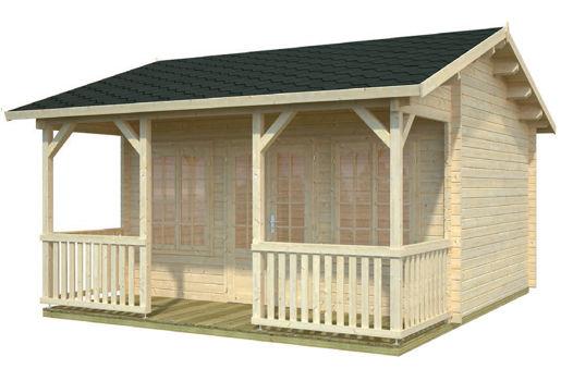 Casas de madera modelo ramona de 4 70 x 3 80 5 30 for Casetas de jardin economicas