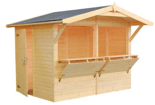 Casas de madera modelo stella de medidas 2 73 x 1 90 for Casetas de jardin economicas