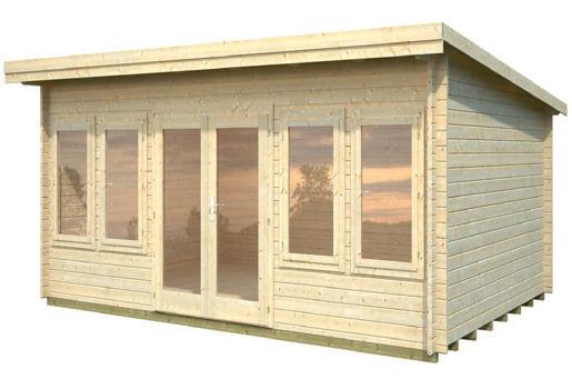 Casas de madera modelo trinity de 5 50 x 4 00 for Casetas para guardar herramientas de jardin