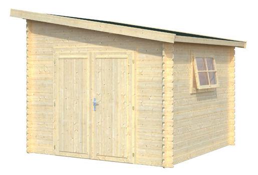 Casas de madera modelo ussel de 2 95 x 2 95 for Casetas de jardin economicas