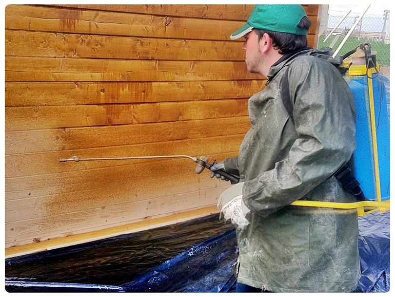 Tratar la casa de madera contra termitas casetas para - Como tratar la madera ...