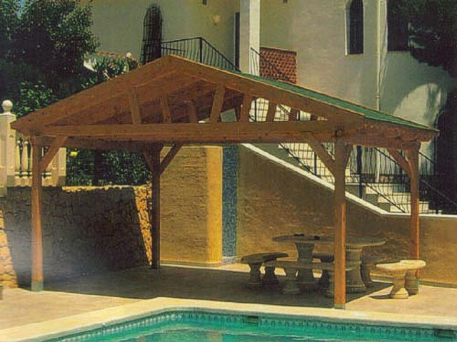 Porches a medida de madera modulares y originales - Tablas de madera baratas ...