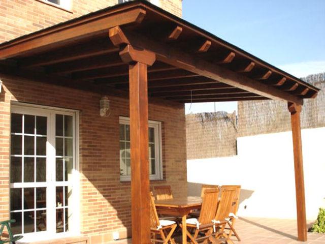 Porches a medida de madera modulares y originales - Pergolas y porches de madera ...