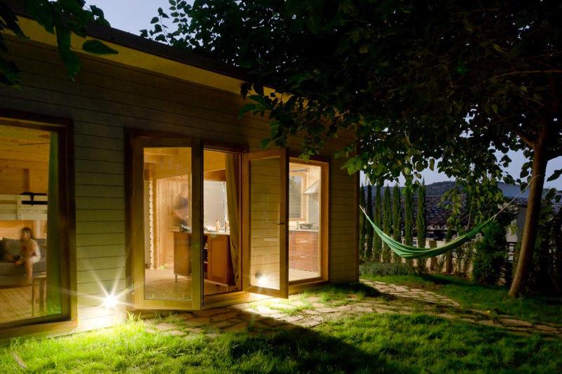 Proceso de montaje de heidi 30 m2 gand a - Montaje casa de madera ...