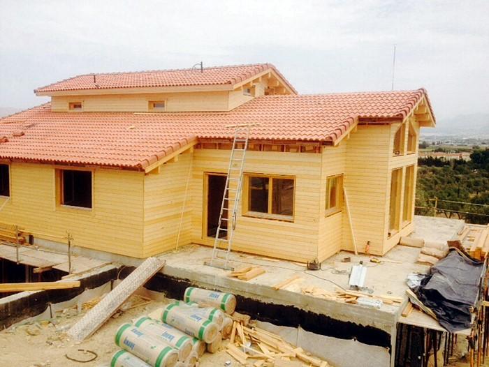 Proceso de montaje de tropical casa de 115 m2 - Casas de madera tropical ...